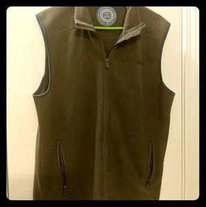 Men's medium life is good fleece vest